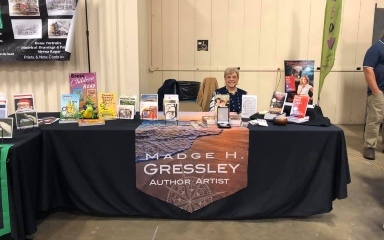 Madge H. Gressley Author Artisit chamber booth