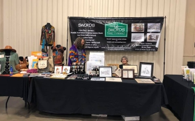 Swords chamber event booth