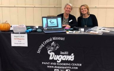 Dugan's Paint and Flooring Center's chamber booth