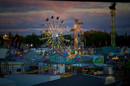 State Fair carnival at night
